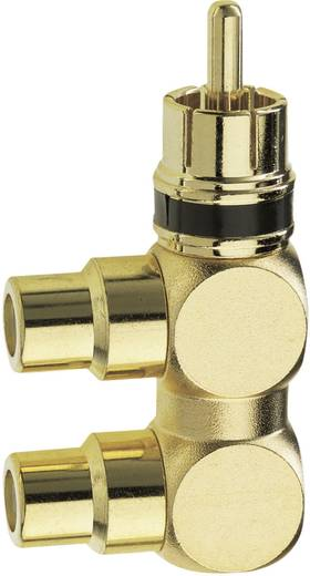 Cinch Audio Adapter [1x Cinch-Stecker - 2x Cinch-Buchse] Gold Inakustik