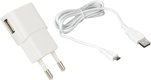 USB-Ladegerät Steckdose HN Power HNP06-USBV2-SET1-WHITE-C Ausgangsstrom (max.) 1200 mA 1 x Micro-USB, USB