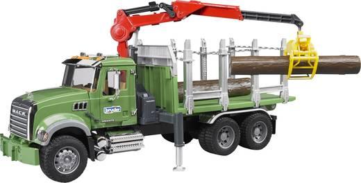 MACK Holztransport LKW mit Ladekran