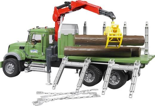 Bruder MACK Holztransport LKW mit Ladekran