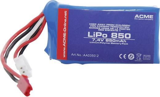 Modellbau-Akkupack (LiPo) 7.4 V 850 mAh ACME BEC
