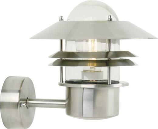 Außenwandleuchte Energiesparlampe, LED E27 60 W Nordlux Blokhus 25011034 Edelstahl
