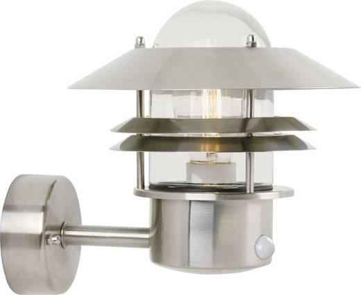 Außenwandleuchte mit Bewegungsmelder Energiesparlampe, LED E27 60 W Nordlux Blokhus 25031034 Edelstahl