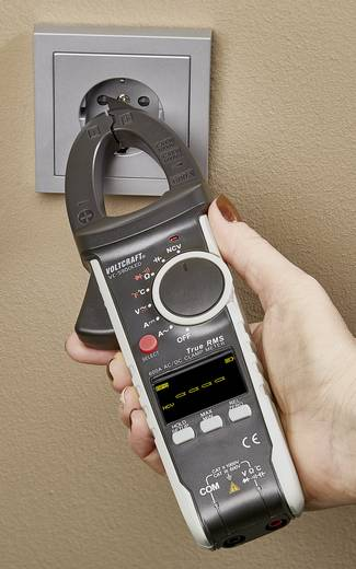 Stromzange digital VOLTCRAFT VC-590OLED Kalibriert nach: Werksstandard (ohne Zertifikat) OLED-Display CAT III 600 V, CAT