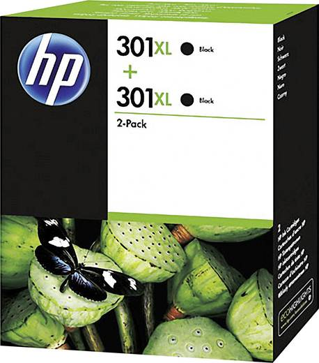 HP Tinte 301XL Original 2er-Pack Schwarz D8J45AE