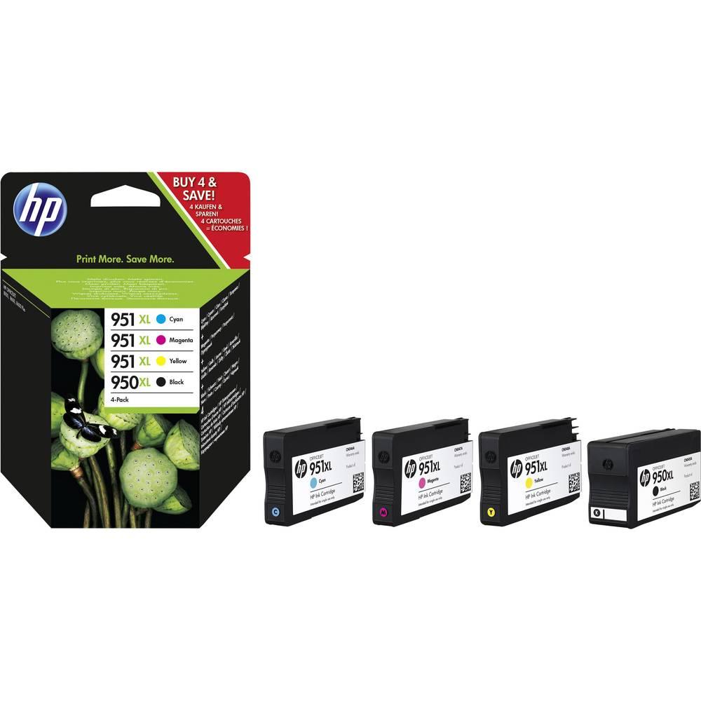 HP Cartridge 950XL + 951XL Origineel Combipack Zwart, Cyaan, Magenta, Geel C2P43AE Cartridge multipack