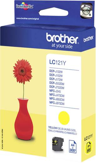 Brother Tinte LC-121Y Original Gelb LC121Y
