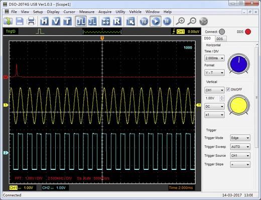 Oszilloskop-Vorsatz VOLTCRAFT DSO-2064G 70 MHz 4-Kanal 200 MSa/s 16 Mpts 8 Bit Digital-Speicher (DSO), Spectrum-Analyse