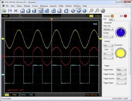 USB-Oszilloskop VOLTCRAFT DSO-2064G 70 MHz 4-Kanal 200 MSa/s 16 Mpts 8 Bit Digital-Speicher (DSO), Spectrum-Analyser, F
