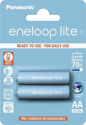 Panasonic eneloop Lite HR06 Mignon (AA)-Akku NiMH 900 mAh 1.2 V 2 St.