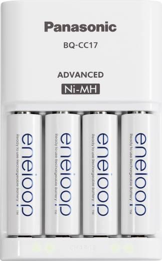 Rundzellen-Ladegerät NiMH inkl. Akkus Panasonic eneloop chargeur BQ-CC17 + 4x AA Micro (AAA), Mignon (AA)
