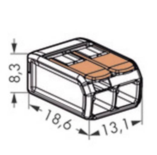 Verbindungsklemme flexibel: 0.14-4 mm² starr: 0.2-4 mm² Polzahl: 2 WAGO 221-412 1 St. Transparent, Orange