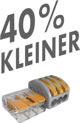 Verbindungsklemme flexibel: 0.14-4 mm² starr: 0.2-4 mm² Polzahl: 3 WAGO 221-413 1 St. Transparent, Orange