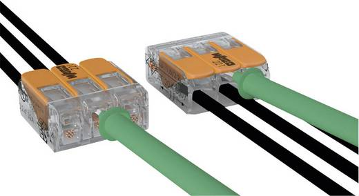 WAGO 221-412 Verbindungsklemme flexibel: 0.14-4 mm² starr: 0.2-4 mm² Polzahl: 2 1 St. Transparent, Orange