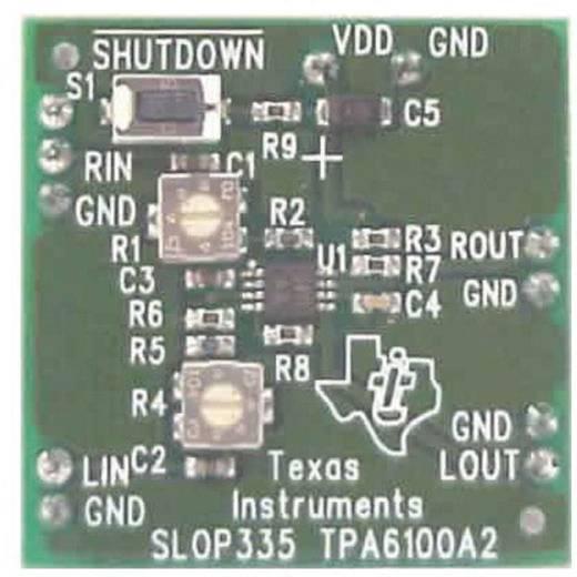 Entwicklungsboard Texas Instruments TPA6100A2EVM