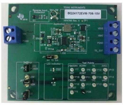 Entwicklungsboard Texas Instruments BQ24172EVM-706-15V
