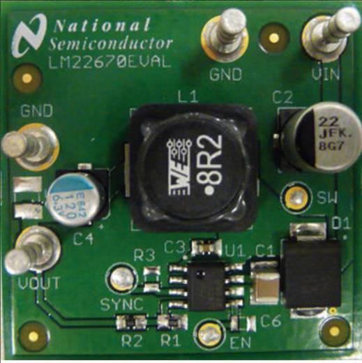 Entwicklungsboard Texas Instruments LM22670EVAL/NOPB