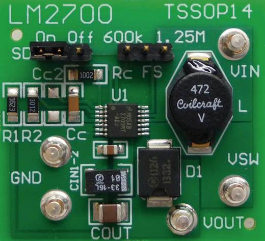 Entwicklungsboard Texas Instruments LM2700MT-ADJEV/NOPB