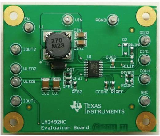 Entwicklungsboard Texas Instruments LM3492HCEVM