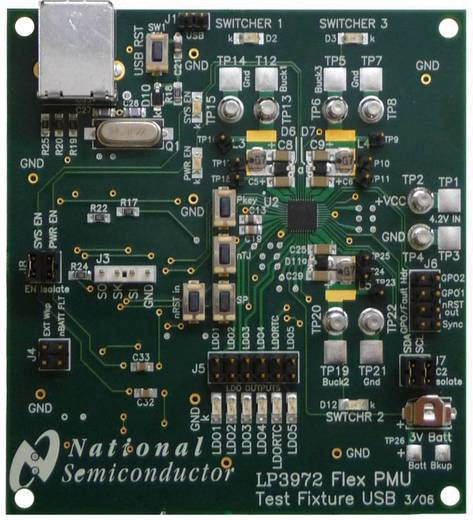 Entwicklungsboard Texas Instruments LP3972SQ-I514EV/NOPB