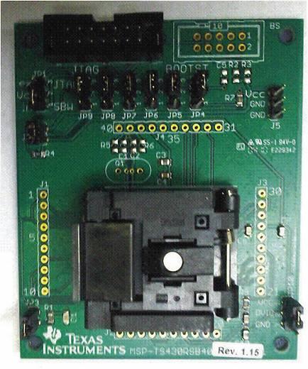 Entwicklungsboard Texas Instruments MSP-TS430RSB40