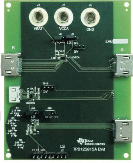 Entwicklungsboard Texas Instruments TPD12S015AEVM