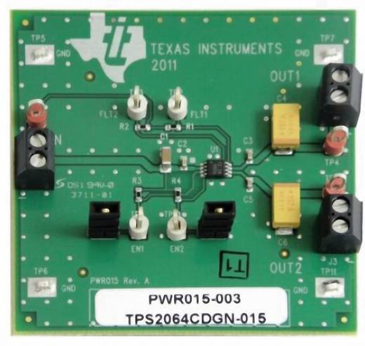 Entwicklungsboard Texas Instruments TPS2064CDGNEVM-015