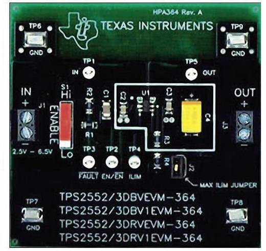 Entwicklungsboard Texas Instruments TPS2552DRVEVM-364