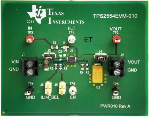 Entwicklungsboard Texas Instruments TPS2554EVM-010