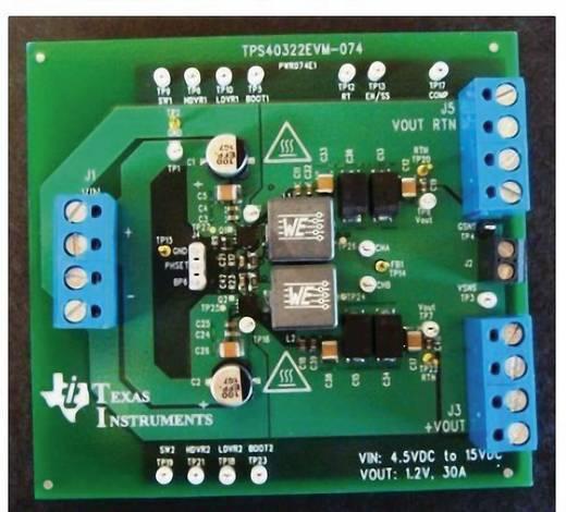 Entwicklungsboard Texas Instruments TPS40322EVM-074
