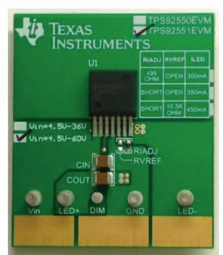 Entwicklungsboard Texas Instruments TPS92551EVM/NOPB