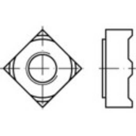 Vierkantmuttern M4 DIN 928 Stahl 1000 St. TOOLCRAFT 119084