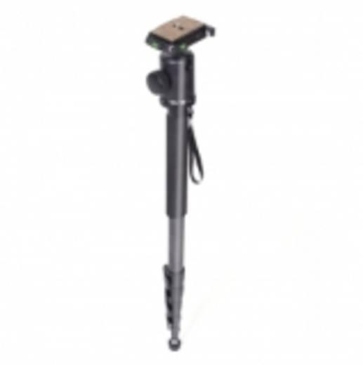 Einbeinstativ Walimex 13381 1/4 Zoll Arbeitshöhe=55 - 185 cm Schwarz inkl. Tasche, Kugelkopf