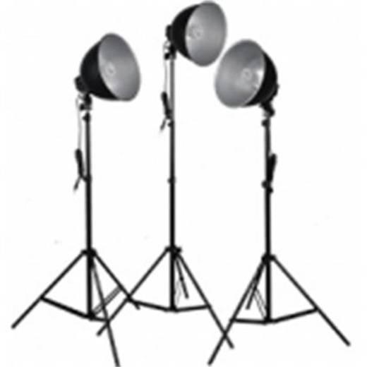 Fotolampe Walimex Studioset Daylight 150/150/150 B 25 W