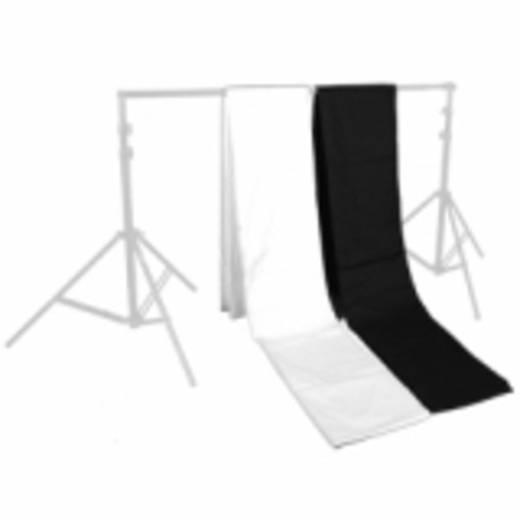 Stoffhintergrund Walimex (L x B) 6 m x 2.85 m Schwarz, Weiß