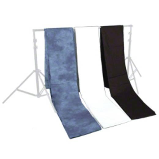 Stoffhintergrund Walimex (L x B) 6 m x 2.85 m Schwarz, Weiß, Blau