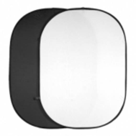 Falthintergrund Walimex (L x B) 200 cm x 150 cm Schwarz, Weiß