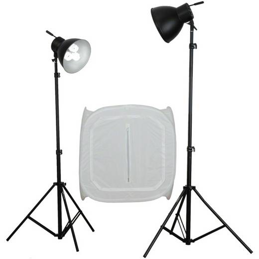 Fotolampe Walimex Studioset Daylight 600/600 mit L