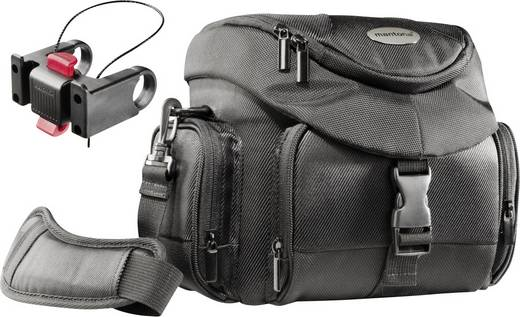 Kameratasche Mantona Set Premium Biker Fototasche Innenmaß (B x H x T) 210 x 190 x 100 mm Lenkerbefestigung