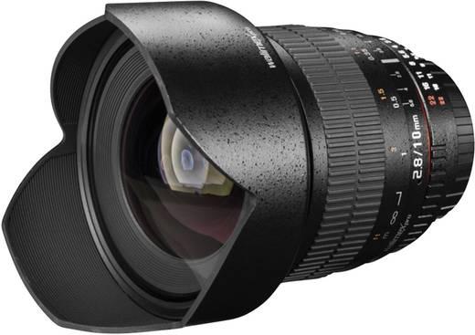 Weitwinkel-Objektiv Walimex Pro 10/2,8 CSC Fuji X schwarz f/2.8 - 22 10 mm