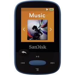 MP3 prehrávač SanDisk Sansa Clip Sport, 8 GB, upevňovací klip, FM rádio, modrá