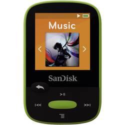MP3 prehrávač SanDisk Sansa Clip Sport, 8 GB, upevňovací klip, FM rádio, zelená