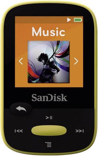 SanDisk Sansa Clip Sport MP3-Player 8 GB Gelb Befestigungsclip, FM Radio