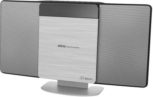 Stereoanlage Silva Schneider SMV 700 BT USB, CD, AUX, Bluetooth®, 100 W Silber
