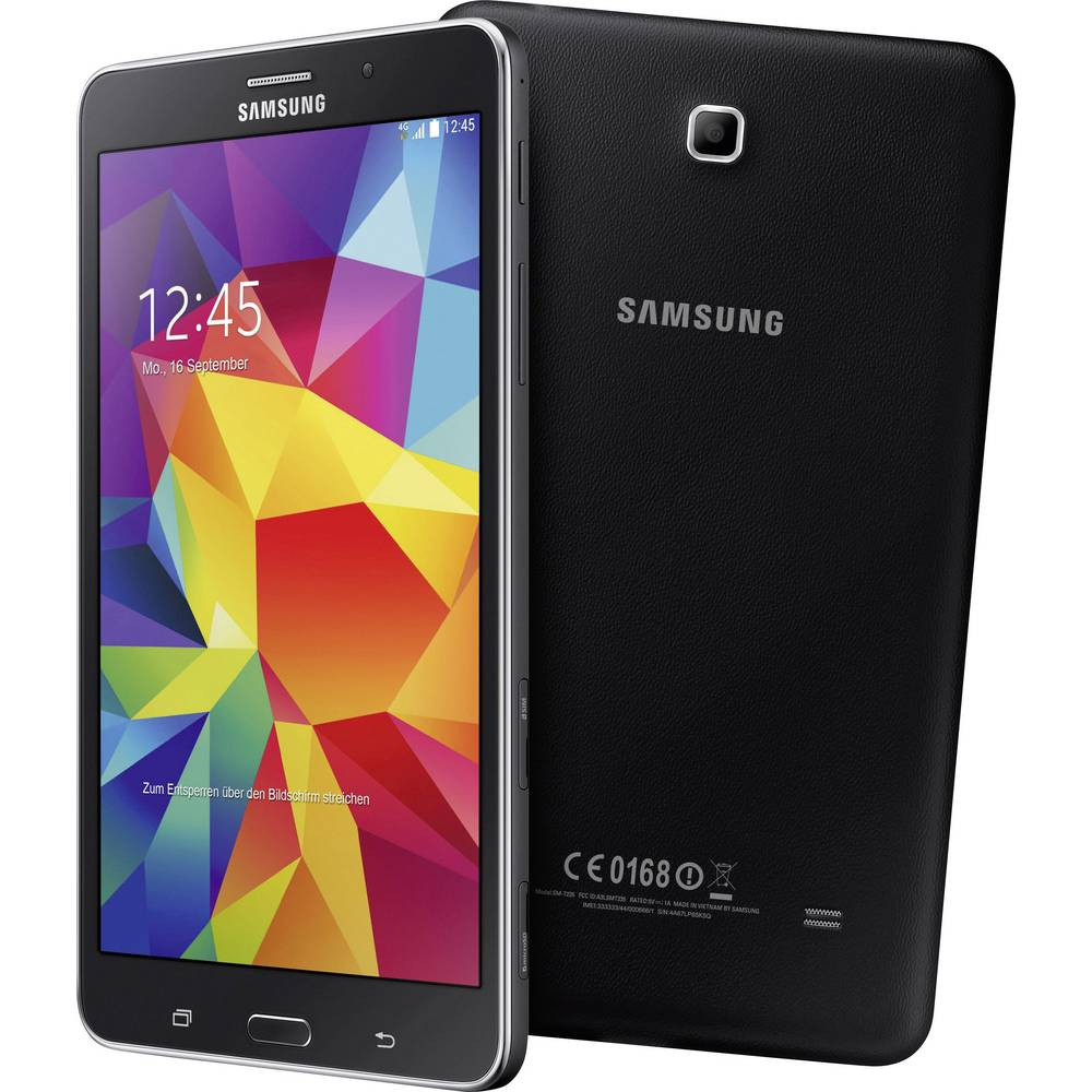 tablette android 7 pouces samsung 8 go 4g noir 1 4 ghz. Black Bedroom Furniture Sets. Home Design Ideas