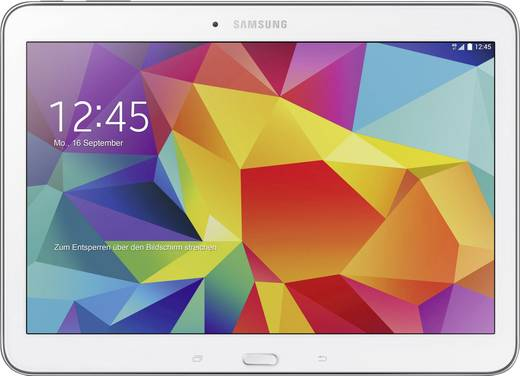 Samsung Tab 4 10.1 Galaxy Tab 4 Android-Tablet 25.7 cm (10.1 Zoll) 16 GB Wi-Fi Weiß 1.2 GHz Quad Core Android™ 4.4 1280