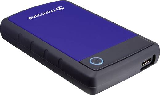 Externe Festplatte 6.35 cm (2.5 Zoll) 2 TB Transcend StoreJet 25H3B Blau-Grau USB 3.0