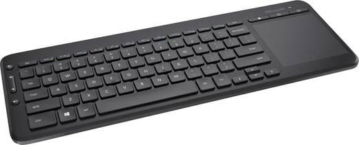 Microsoft All-in-One cordless Media Keyboard Funk-Tastatur Schwarz Integriertes Touchpad, Spritzwassergeschützt