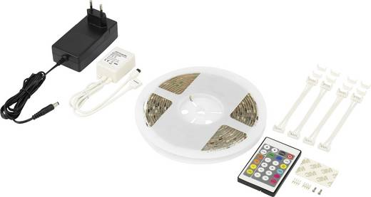 LED-Streifen-Komplettset mit Stecker 230 V 500 cm RGB Renkforce Digital 5MCC316W