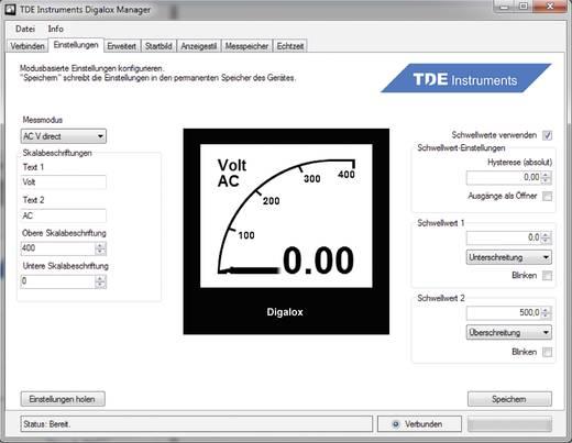 TDE Instruments Digalox DPM72-AVP Grafisches DIN-Messgerät für Volt und Ampere mit USB-Schnittstelle TDE Instruments Dig